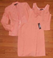 KASPER Size 10 3pc Peach Skirt Suit w/matching Shell New w/Tags MSRP$220 AWESOME