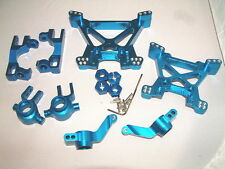 SLASH 4X4 VXL GPM BLUE ALUMINUM FRONT&REAR HUBS SHOCK TOWERS KUNCKLES COMBO SET