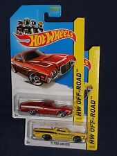 Hot Wheels Lot of 2 Cars  2014 HW Off-Road  '72 Ford Ranchero Mtflk Red Yellow