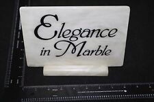 RARE ELEGANCE IN MARBLE DEALER DISPLAY MARBLE SIGN UNIQUE COLLECTION ADDITION