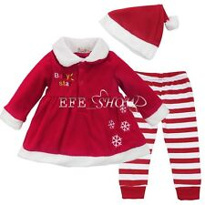 christmas clothing for baby girl 18-24 Months 3Pcs in Set Red santa Xmas Costume