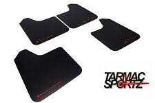 Rally Armor Basic Universal Mud Flaps Set 4 x Black w/ Red Logo MF12-BAS-RD