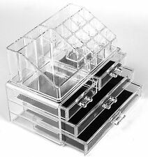 Acrylic Jewellery Organiser Cosmetic Drawer Make Up Rack Stand XMAS GIFT FOR HER