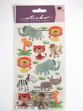 STICKO STICKERS - ZOO CUTIES animals lion elephant tiger