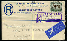 TRANSVAAL: (12675) VREDEDORP cancel/PSRE/cover