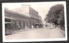 VINTAGE 1934 PHOTOGRAPH MEXICO STREET SCENE OLD CAR MOVIE SHOW THEATRE PHOTO