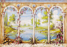 Dolls House Wallpaper Mural 1/12th scale Quality Paper #02 Miniature