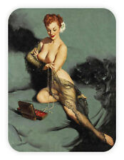 Retrò ragazza Pin up sexy girl pinup adesivo flower etichetta sticker 9cm x 12cm