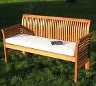 Gartenbank Holz massiv 3-Sitzer Bank + Auflage 150 cm Hartholz Bangkirai no teak