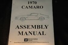 1970 CAMARO  ASSEMBLY MANUAL 100'S OF PAGES OF PICTURES, PART NUMBERS & DETAILS
