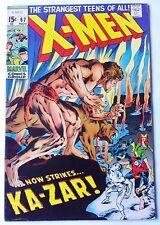 X-Men 62 marvel 1969 X-Men Battle Kaz-Zar Neal Adams Art high grade
