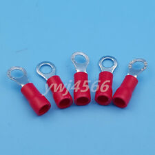100Pcs Red Ring Insulated Wire Connector Electrical Crimp Terminal RV1.25-4
