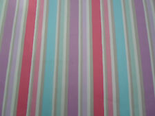 Designers Guild Fabric 'Sweetpea Stripe' 2.2 METRES Lilac (220cm) 100% Cotton
