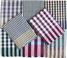 Cotton Single Bed Sheet in Checks Design Combo Set 1+1 SBOXAJZ2