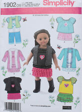 "18"" GIRL DOLL CLOTHES Simplicity Sewing Pattern  # 1902 American Made NEW Uncut"