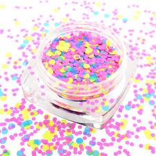 Hot New 1mm-2mm Mixed Mini Round Thin Nail Art Tips Glitter Paillette DIY HY26