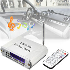 MINI MP3 USB LETTORE DIGITALE RADIO FM TELECOMANDO LED CUFFIE AMPLIFICATORE AUTO