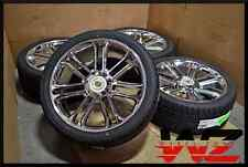 "Set of New 24"" Aftermarket Chrome Platinum Style Wheels w/ Tires! fits Escalade"