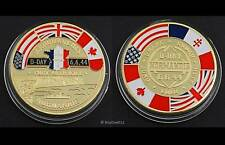 World War 2 D-Day Landing 70th Anniversary Gold Coin - Remembrance Plane Tank