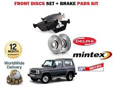 FOR DAIHATSU FOURTRACK 2.8D 2.8TD 1983--  FRONT BRAKE DISCS SET + DISC PADS KIT