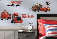 DISNEY CARS FRIENDS to the FINISH wall stickers 18 decals Mater McQueen Mack Red