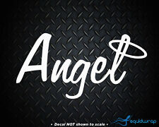 Angel Halo Motocross Racing Car Decal / Laptop Sticker - WHITE 5""