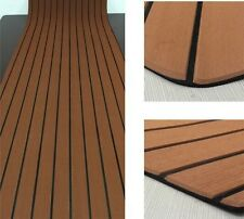 "EVA Foam Faux Teak Sheet Boat Yacht Synthetic Teak Decking 35"" X 94"" 6MM Thick"