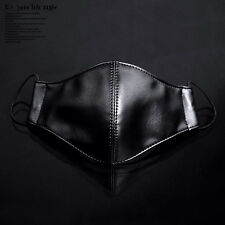 Cool Punk Sheep Leather Unisex Fashion Face Mouth Mask Muffle Daily Protection