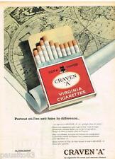 PUBLICITE ADVERTISING 095  1961  CRAVEN A cigarettes