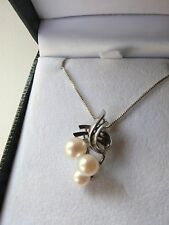 Vintage Mikimoto Sterling silver Akoya Cultured Pearl pendant authentic