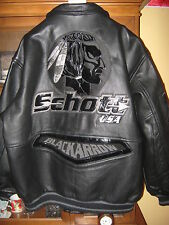 Schott leather jacket -motorcycle riding jacket