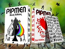 Pipmen 2 Deck Set Red & Black Playing Cards Poker Size LPCC Custom Limited New