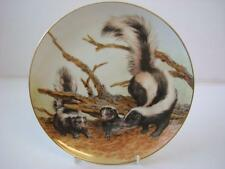 COLLECTORS STUDIO THE FOREST YEAR SKUNKS ON AN APRIL OUTING PLATE
