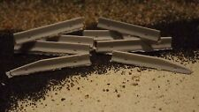 N-Scale  8 Unfinished Concrete Jersey Barriers 1:160 Model Train Detail Accesso