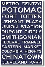 Washington DC Signs - NEW World Travel City Train Station Street Sign POSTER