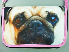 NEU Primark Clutch ❤️ Mops Hund Foto Print Handtasche Tasche Schultertasche Pug