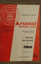 1965/66 Football League: ARSENAL v FULHAM - 9th OCTOBER