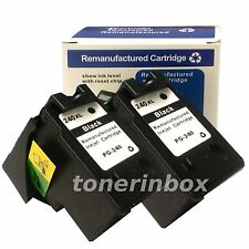 2x PG240XL PG-240XL HY Black Ink Cartridge for Canon PIXMA MX372 MX392 MX432