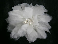 KLEINFELD WEDDING FLOWER WHITE SILK DECORATION GOWN OR HAIR ACCESSORY