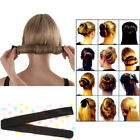New Hair Styling Donut Former Foam French Twist Magic DIY Tool Bun Maker Black