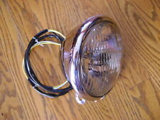 "BOTTOM MOUNT HALOGEN  HEADLIGHT 5 3/4"" HARLEY SOFTAIL FXST FXWG FXDWG CHOPPER"