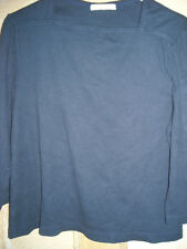 SIZE 16 BLUE 3/4 LENGTH SLEEVED TOP IN COTTON