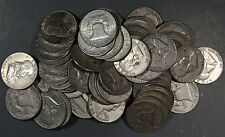 1948-1963 FRANKLIN HALF DOLLARS, LOT OF 6 90% SILVER