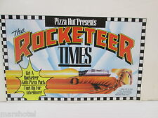 DISNEY PIZZA HUT ROCKETEER MOVIE TIMES PAMPHLET PUZZLES FUN FACTS SHEET DEAL/12