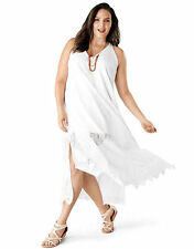 NEW LANE BRYANT PLUS SIZE WHITE LACE MAXI DRESS SZ 18/20