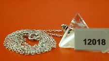Quartz Tetrahedron Sacred Geometry Pendant and 925 Sterling Silver Chain #12018