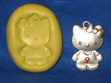 Girl Kitty Cat Character Silicone Push Mold Resin Clay Candy #415 Chocolate Soap