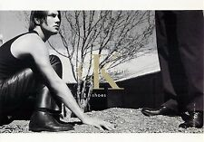 """Calvin Klein Shoes Man in Dirt Black and White Advertisement Postcard 6x4"""""""
