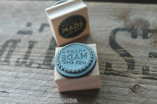East of India HAND MADE WITH LOVE wood rubber stamp for handmade cards & crafts