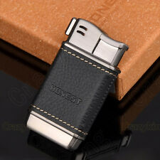 Honest  Mini Black Leather Metal Tobacco Pipe Cigarette lighter  With Gift Box